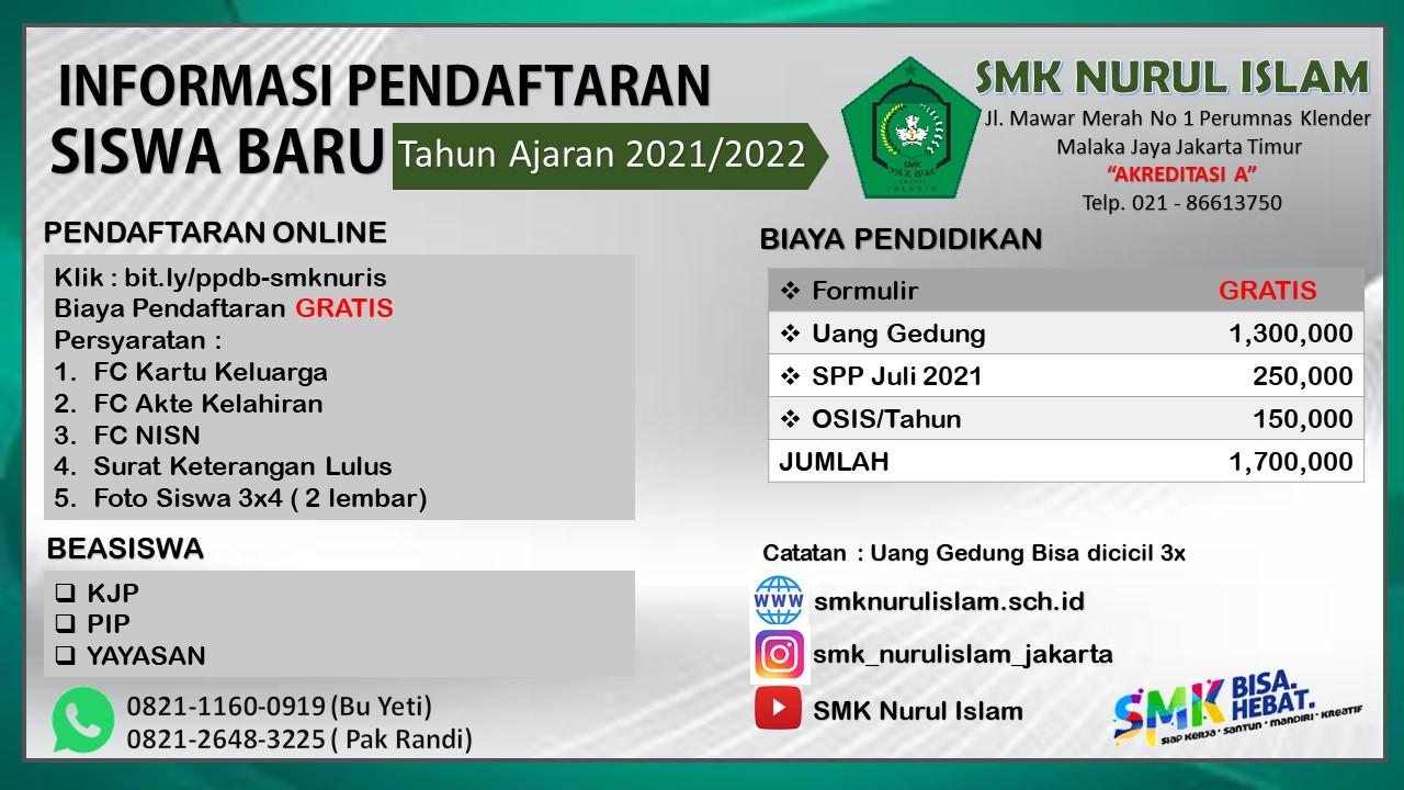 Biaya PPDB SMK Nuris